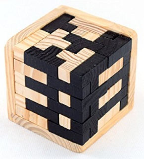 StillCool 3D Wooden Puzzles 54 T-Shaped Tetris Blocks – $6.59