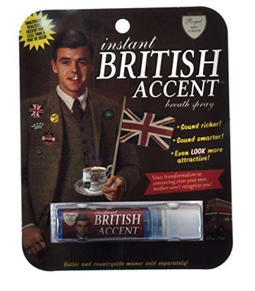 """Instant British Accent"" Breath Spray – $7.20"