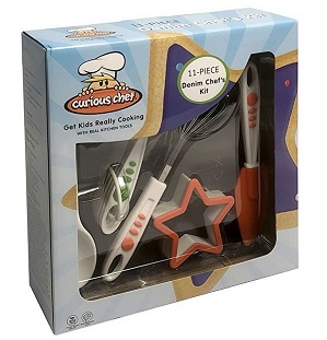 Curious Chef 11 Piece Denim Chef's Kit – $24.99