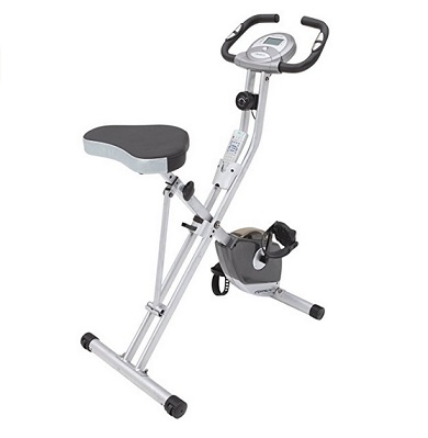 Exerpeutic Folding Magnetic Upright Bike with Pulse – $129.82