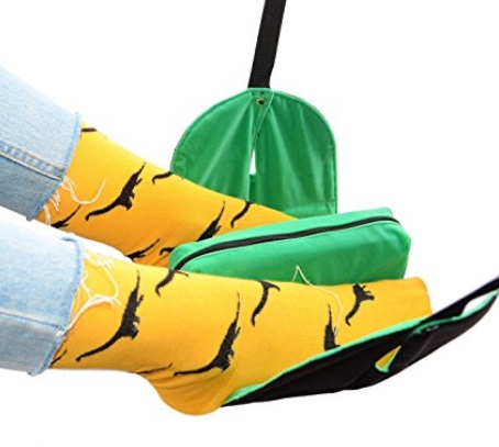 Portable Leg Hammock With Foam Pillow For Airplane Flight – $15.98