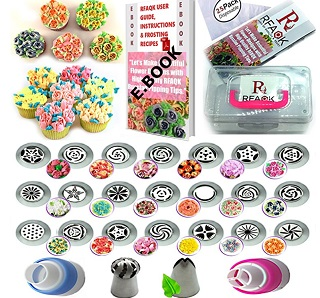 50 Pcs Russian Piping Tips Set with Storage Case – $19.95