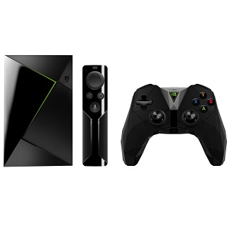Nvidia Shield TV/Streaming Media Player with Remote & Game Controller – $199.64