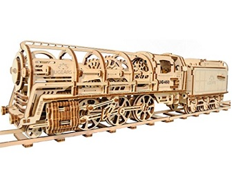 Ugears Wooden Train Mechanical Puzzle – $78.90