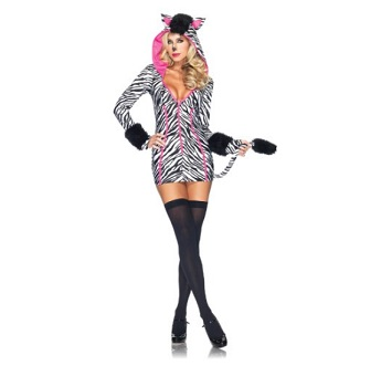 Women Zebra Costume, Black/White – $31.75